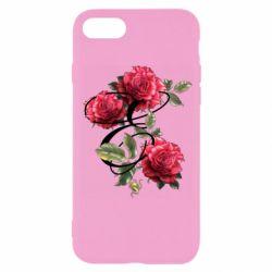 Чехол для iPhone 7 Буква Е с розами