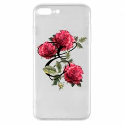 Чехол для iPhone 7 Plus Буква Е с розами