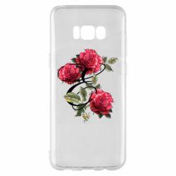 Чехол для Samsung S8+ Буква Е с розами