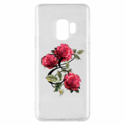 Чехол для Samsung S9 Буква Е с розами
