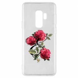 Чехол для Samsung S9+ Буква Е с розами