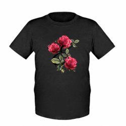 Детская футболка Буква Е с розами
