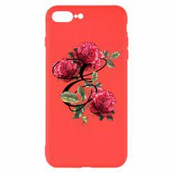 Чехол для iPhone 8 Plus Буква Е с розами