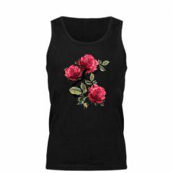 Мужская майка Буква Е с розами