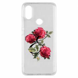 Чехол для Xiaomi Mi A2 Буква Е с розами