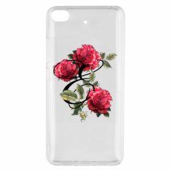 Чехол для Xiaomi Mi 5s Буква Е с розами