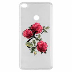 Чехол для Xiaomi Mi Max 2 Буква Е с розами