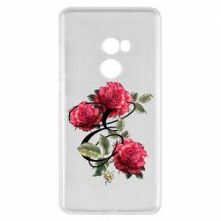 Чехол для Xiaomi Mi Mix 2 Буква Е с розами