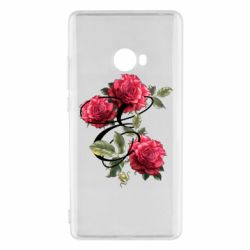 Чехол для Xiaomi Mi Note 2 Буква Е с розами