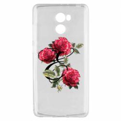 Чехол для Xiaomi Redmi 4 Буква Е с розами
