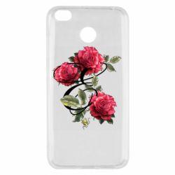 Чехол для Xiaomi Redmi 4x Буква Е с розами