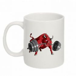 Кружка 320ml Bull with a barbell - FatLine