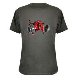 Камуфляжная футболка Bull with a barbell - FatLine