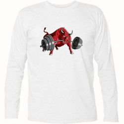Футболка с длинным рукавом Bull with a barbell - FatLine