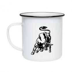 Кружка емальована Bull