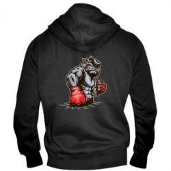 Мужская толстовка на молнии Bulldog MMA - FatLine