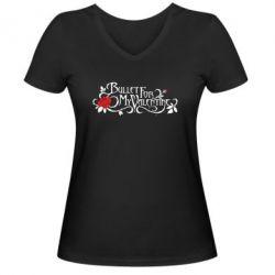 Женская футболка с V-образным вырезом Bullet For My Valentine - FatLine