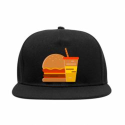 Снепбек Burger and drink vector