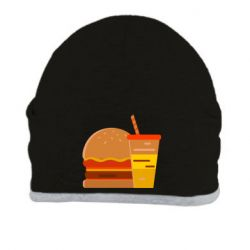 Шапка Burger and drink vector