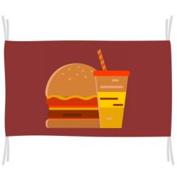 Флаг Burger and drink vector