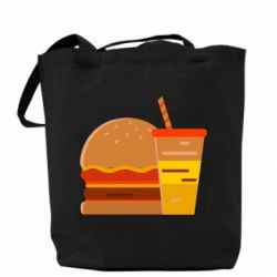 Сумка Burger and drink vector