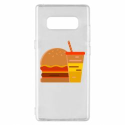 Чехол для Samsung Note 8 Burger and drink vector