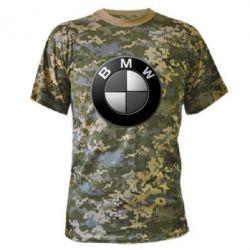 Камуфляжная футболка BMW Black & White - FatLine