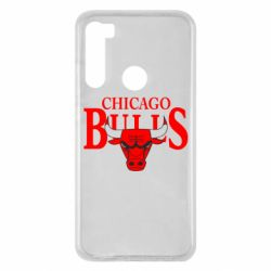 Чехол для Xiaomi Redmi Note 8 Бык на фоне Chicago Bulls