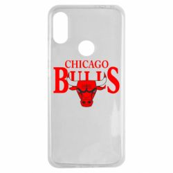 Чехол для Xiaomi Redmi Note 7 Бык на фоне Chicago Bulls