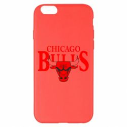 Чехол для iPhone 6 Plus/6S Plus Бык на фоне Chicago Bulls