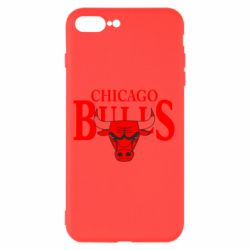 Чехол для iPhone 7 Plus Бык на фоне Chicago Bulls