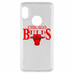 Чехол для Xiaomi Redmi Note 5 Бык на фоне Chicago Bulls