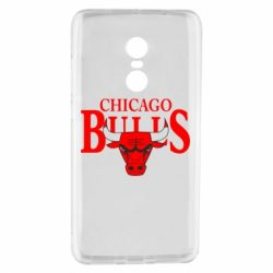 Чехол для Xiaomi Redmi Note 4 Бык на фоне Chicago Bulls