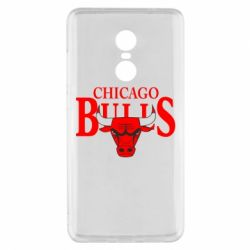 Чехол для Xiaomi Redmi Note 4x Бык на фоне Chicago Bulls