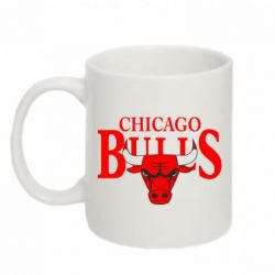 Кружка 320ml Бык на фоне Chicago Bulls - FatLine