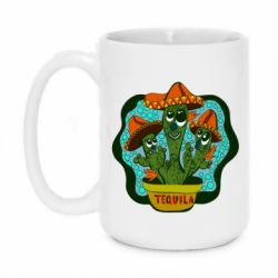 Кружка 420ml Cacti with Tequila inscription