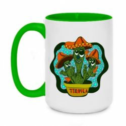 Кружка двоколірна 420ml Cacti with Tequila inscription