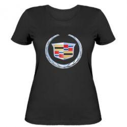 Женская футболка Cadillac - FatLine