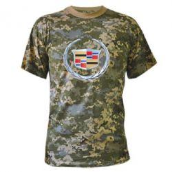 Камуфляжная футболка Cadillac - FatLine