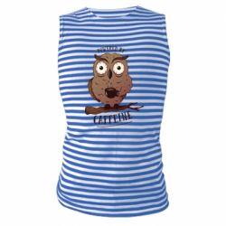 Майка-тільняшка Caffeine Owl