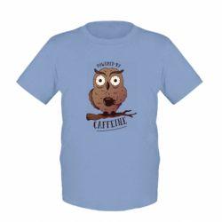 Дитяча футболка Caffeine Owl