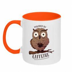 Кружка двоколірна 320ml Caffeine Owl