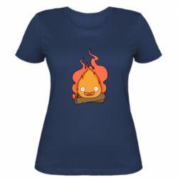 Женская футболка Calcifer vector