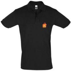 Мужская футболка поло Calcifer vector