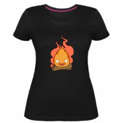 Женская стрейчевая футболка Calcifer vector