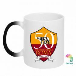 Кружка-хамелеон Calcio Femminile Roma