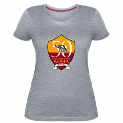 Жіноча стрейчева футболка Calcio Femminile Roma