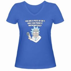 Жіноча футболка з V-подібним вирізом Calculator