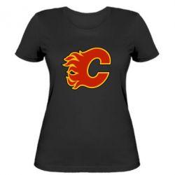 Женская футболка Calgary Flames - FatLine