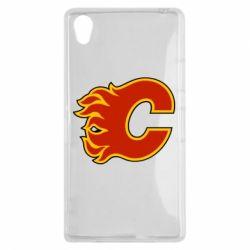 Чехол для Sony Xperia Z1 Calgary Flames - FatLine